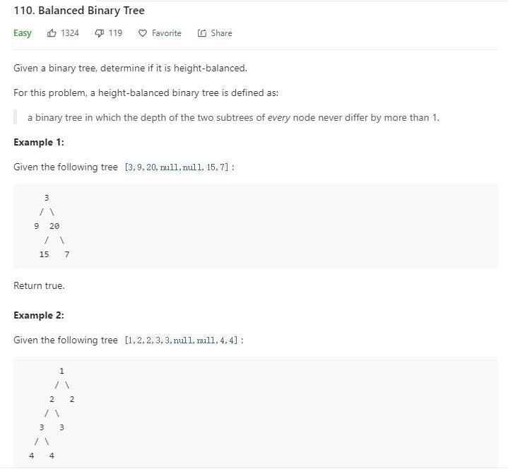 leetcode-110-Balanced-Binary-Tree