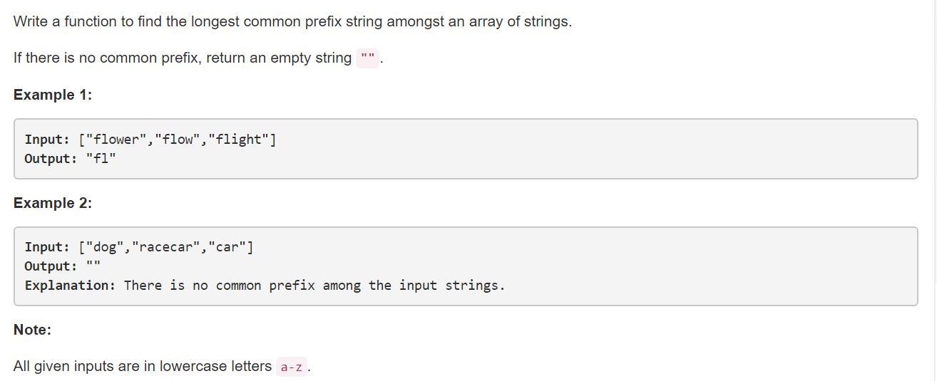 leetCode-14-Longest-Common-Prefix