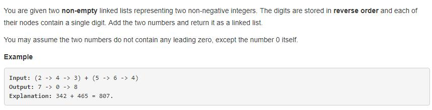 leetCode-2-Add-Two-Numbers