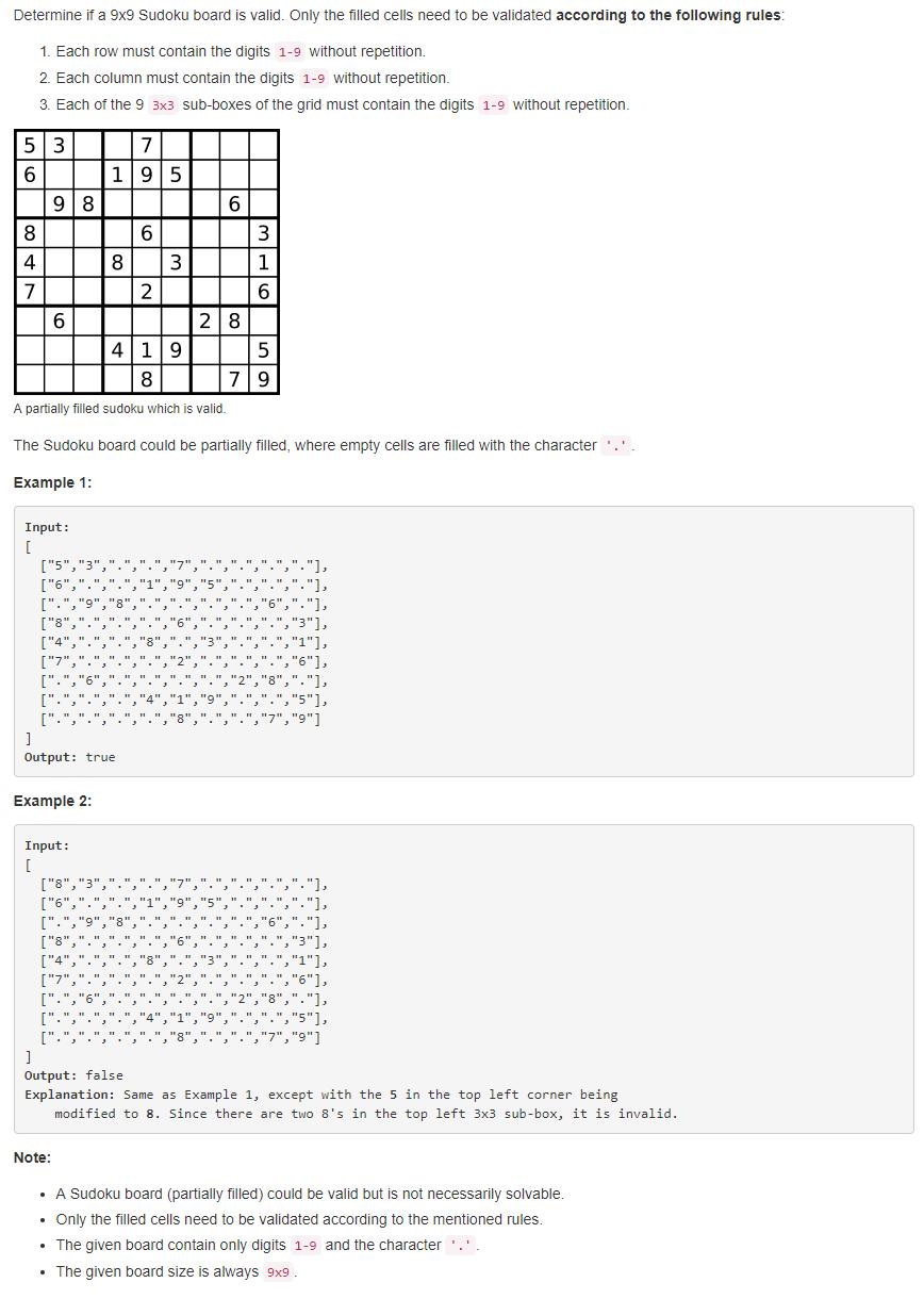 leetCode-36-Valid-Sudoku