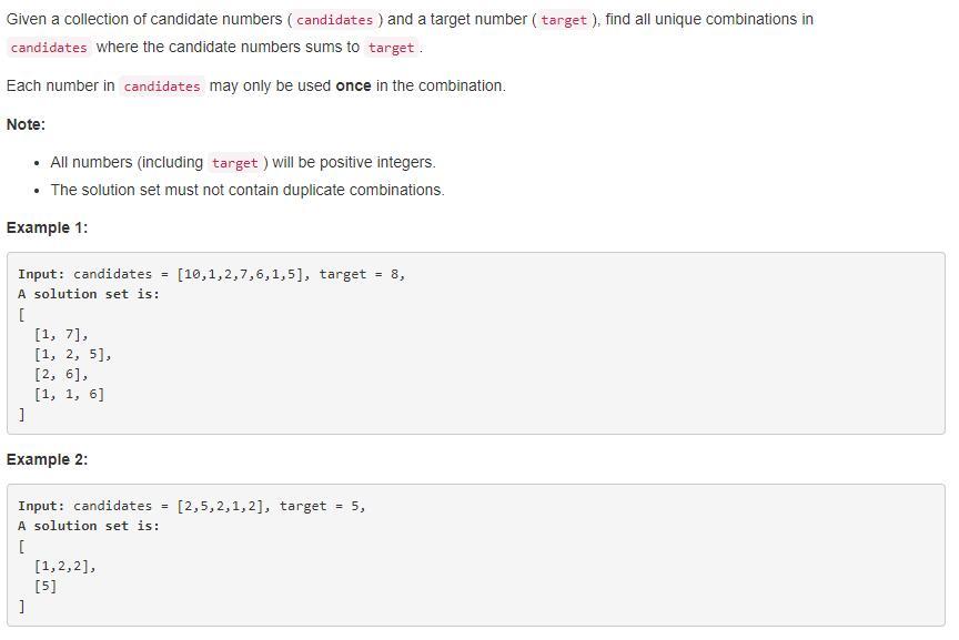 leetCode-40-Combination-Sum-II