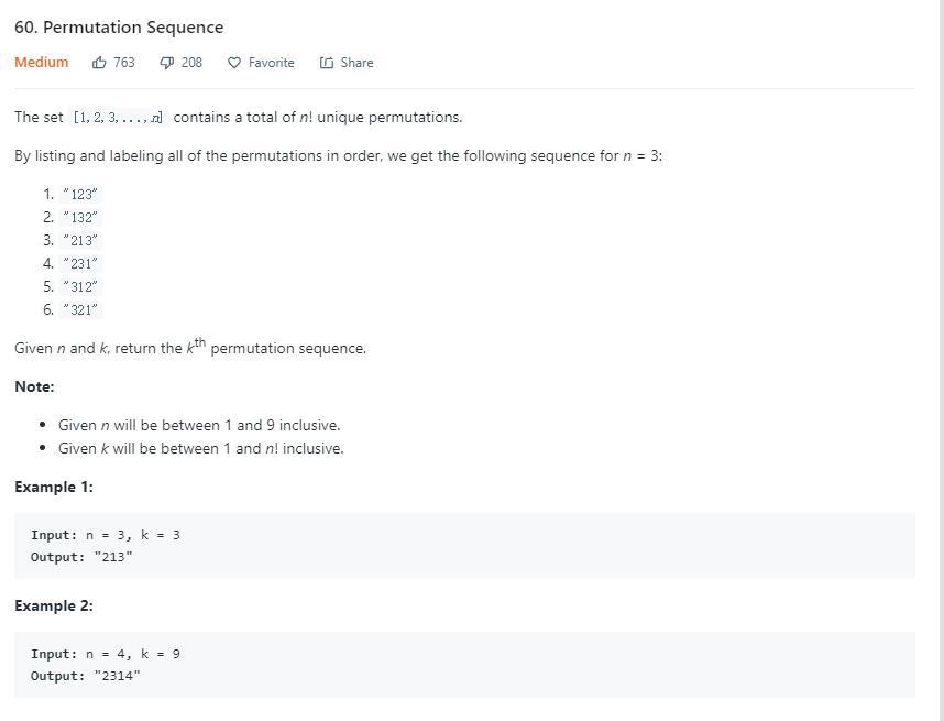 leetCode-60-Permutation-Sequence