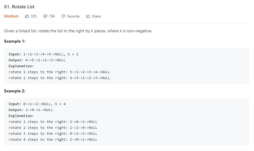 leetCode-61-Rotate-List