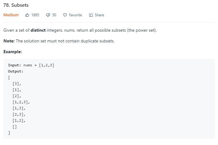 leetCode-78-Subsets