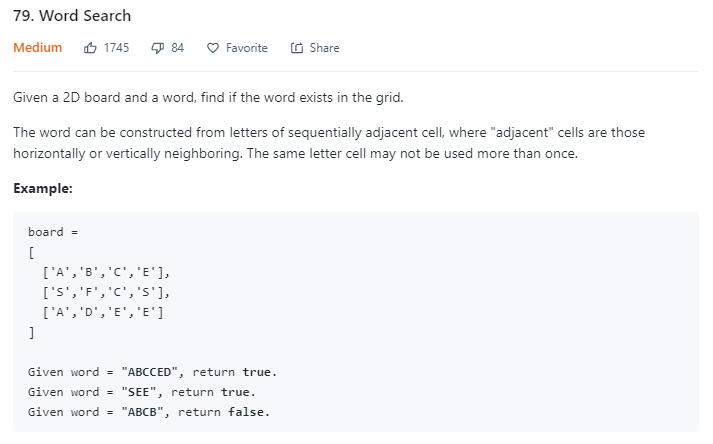 leetCode-79-Word-Search