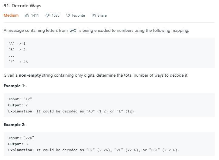 leetcode-91-Decode-Ways