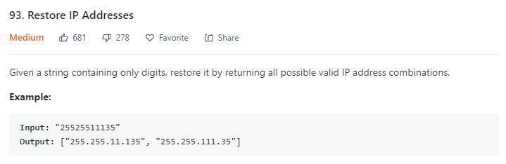 leetCode-93-Restore-IP-Addresses