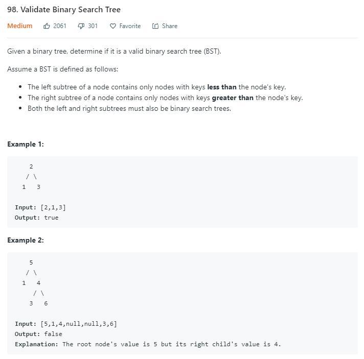 leetCode-98-Validate-Binary-Search-Tree